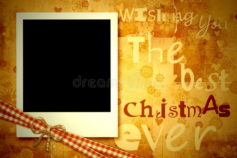 Christmas greeting card photo frame royalty free illustration