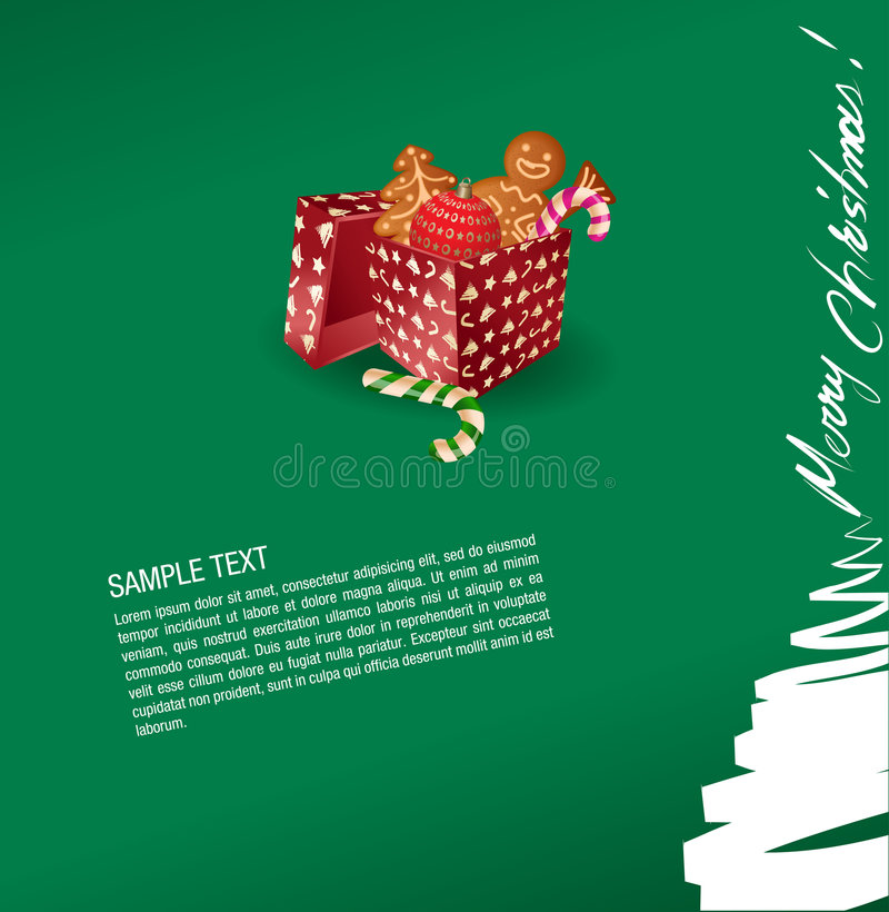 Download Christmas Greeting Card - Present, Sweet, Gingerbr Stock Vector - Image: 6805491