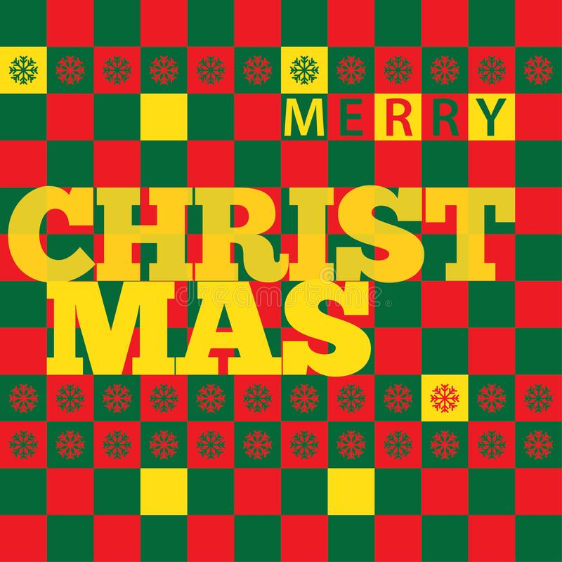 Christmas Greeting Card with Rectangle Color stock photos