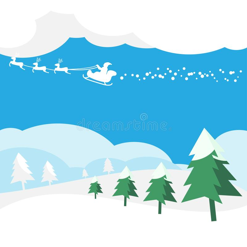 Christmas Greeting Card with Santa Claus background stock photos