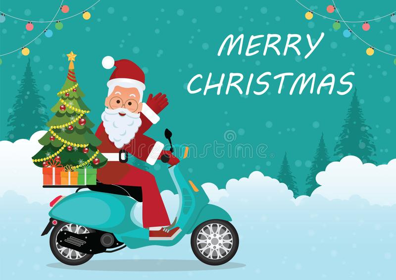 Motorcycle-Usa Christmas Post Cards 2020, Santa And Motorcyle Santa Riding Motorcycle Stock Illustrations – 141 Santa Riding
