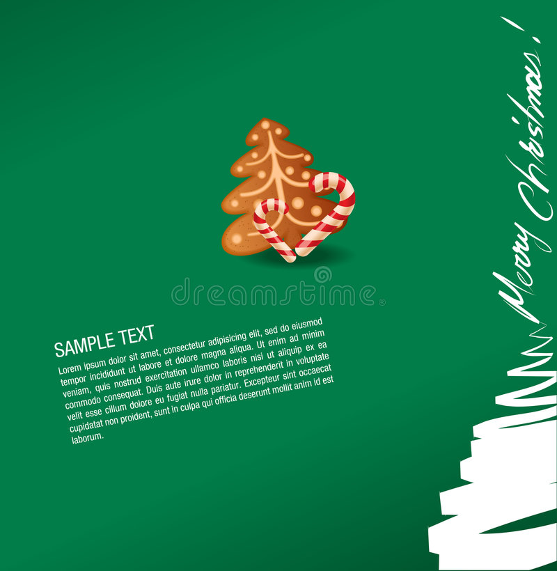 Download Christmas Greeting Card- Sweet And Gingerbread Cak Stock Vector - Image: 6805495