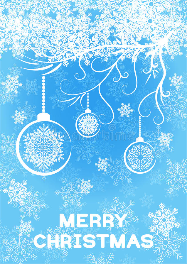 Christmas greeting card template royalty free illustration