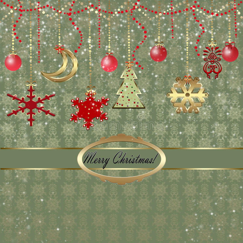 Download Christmas greeting card stock illustration. Illustration of beautiful - 33033973
