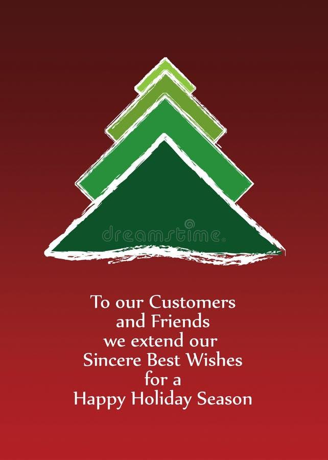 Christmas greeting card vector 2012 stock photo