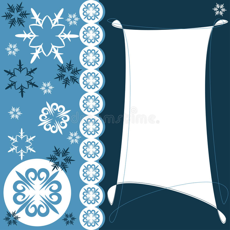 Free Christmas Greeting Card With Snowflakes Royalty Free Stock Image - 27014636