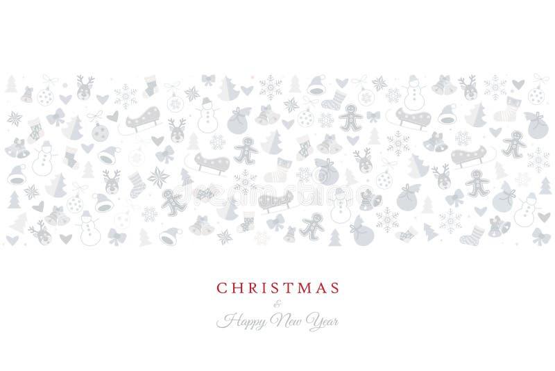 Christmas Greeting Card Xmas Icons And Symbols Stock Vector