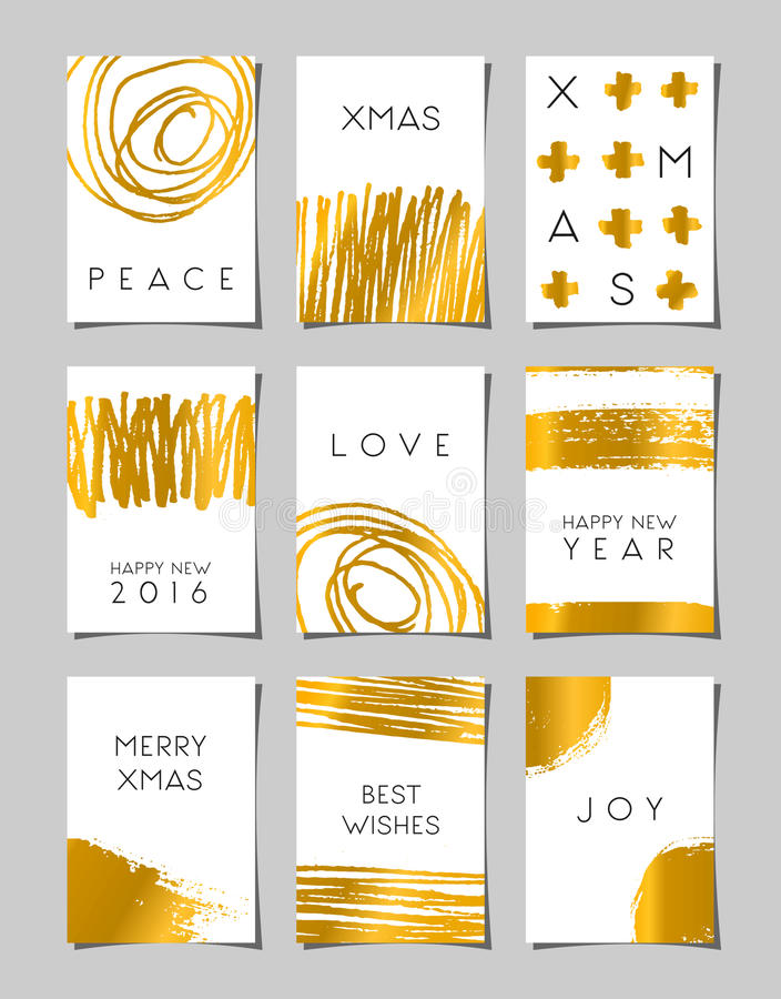 Christmas Greeting Cards Set royalty free illustration
