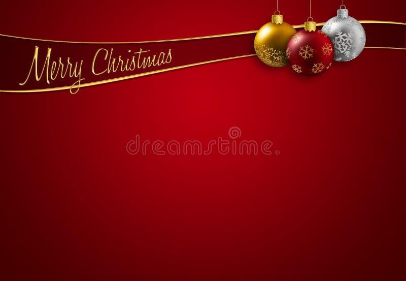 Christmas greeting royalty free illustration