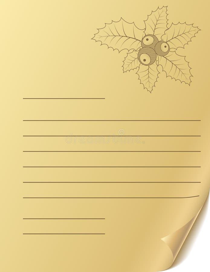 Download Christmas greeting letter stock vector. Illustration of corner - 12262755