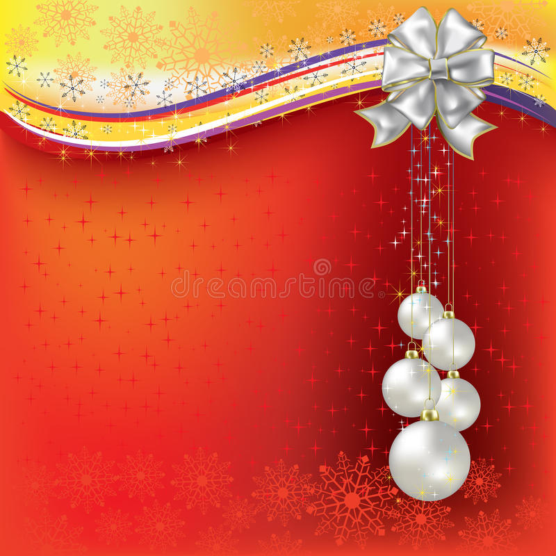 Free Christmas Greeting Pearl Balls With White Bow Stock Image - 16544521