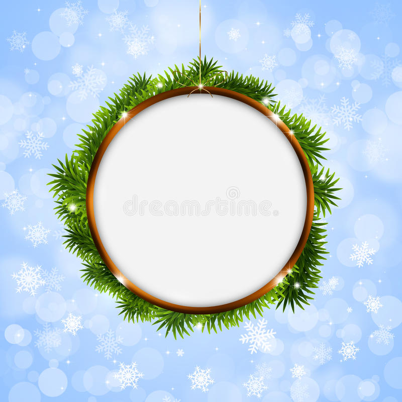 Christmas Ring.Christmas Ring On White Background Stock Illustration Illustration