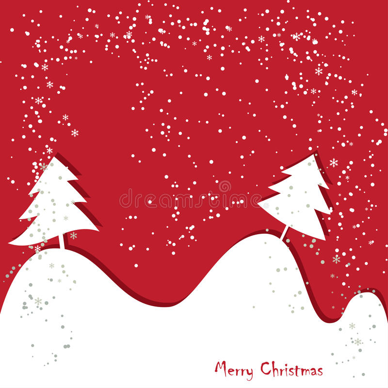 Christmas greeting traditional red card vector illustration