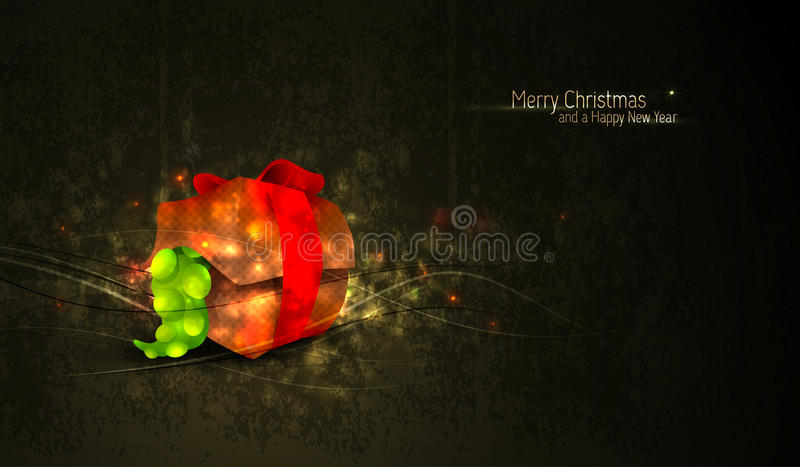 Download Christmas Greeting With Unique Gift Box Royalty Free Stock Photos - Image: 22394708