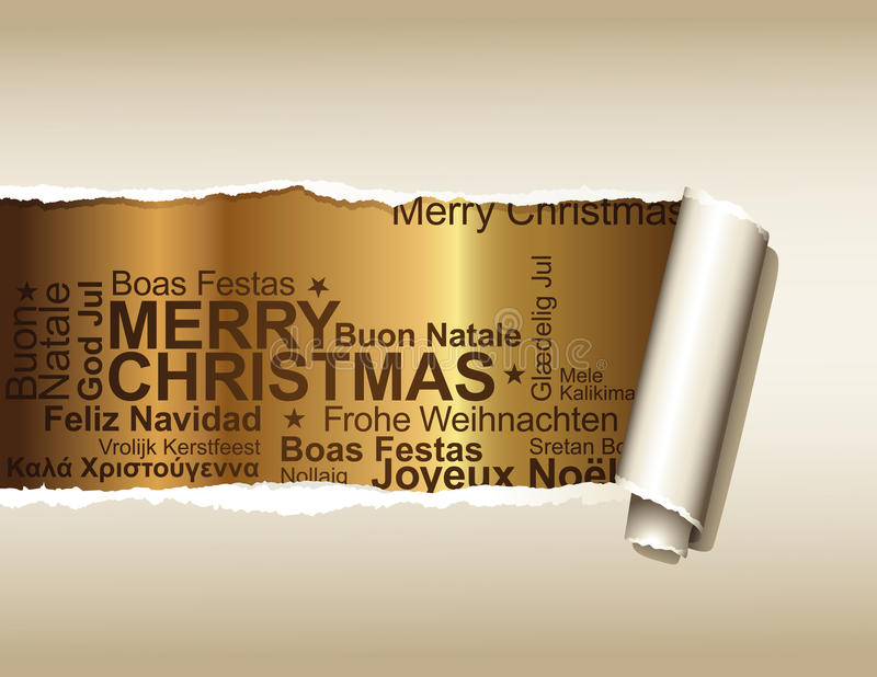 Download Christmas greetings stock vector. Image of grungy, border - 10728741