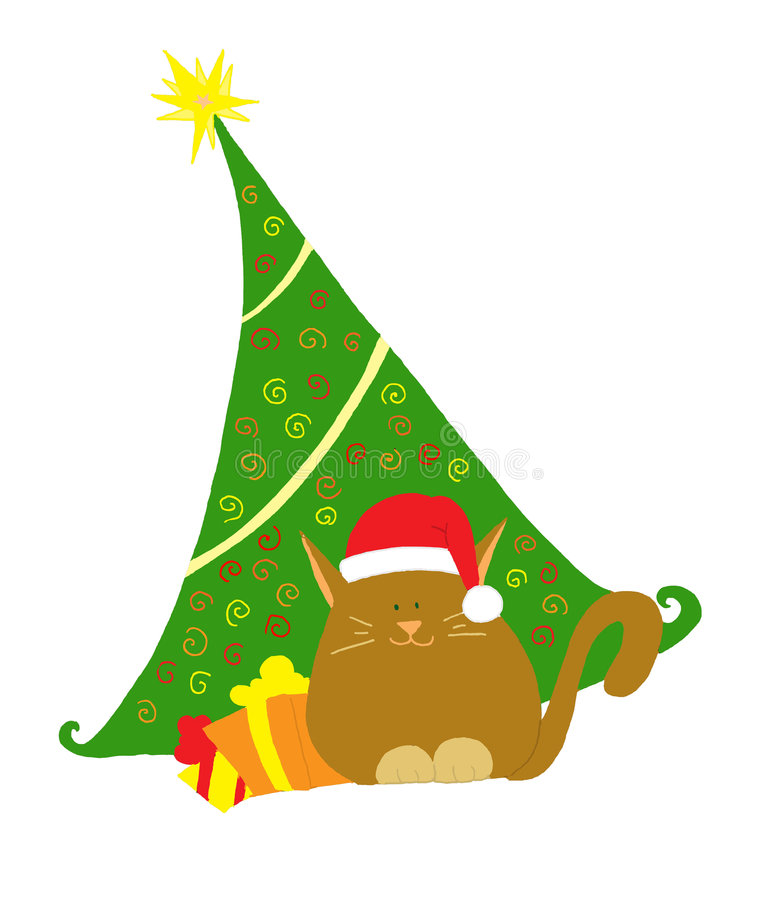 Download Christmas greetings card stock illustration. Image of tree - 7540977
