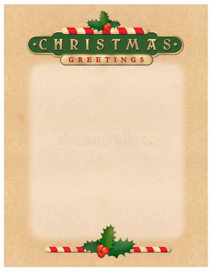 Download Christmas Greetings Letter Stock Illustration Of Canes