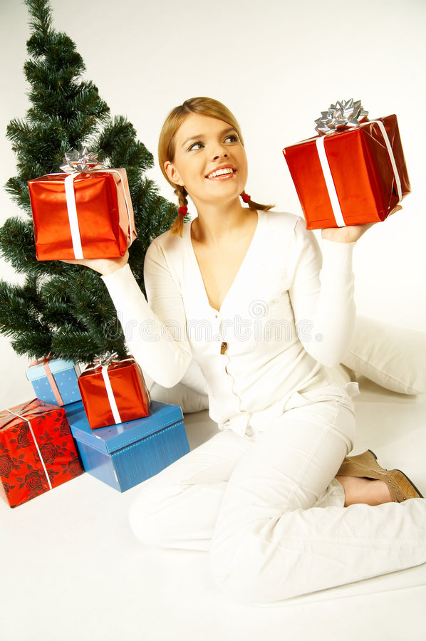 Download Christmas Gril Stock Photo - Image: 1412720