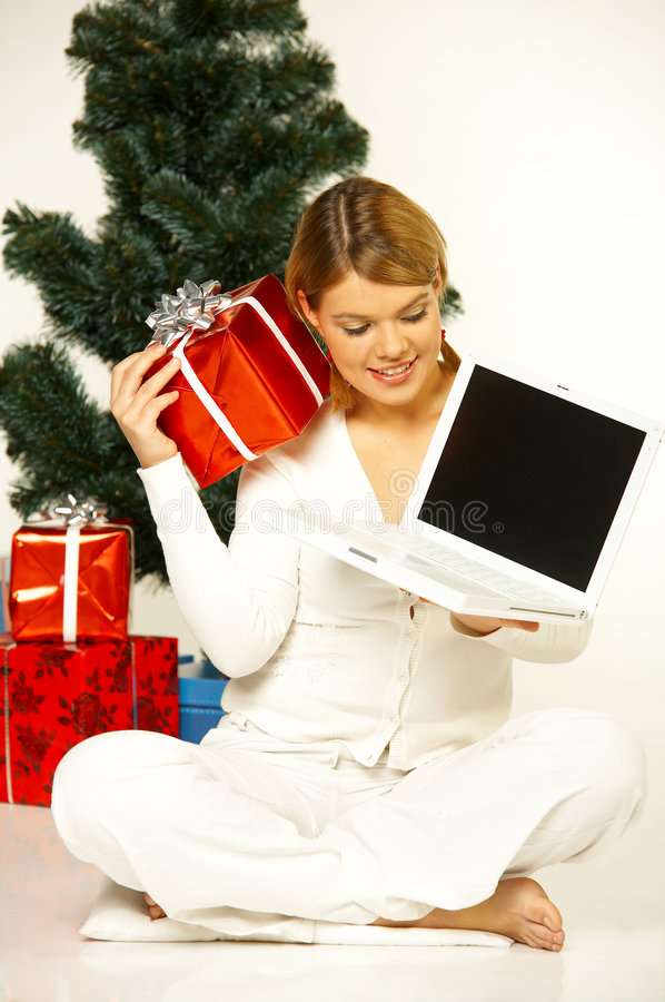 Christmas Gril Royalty Free Stock Photos