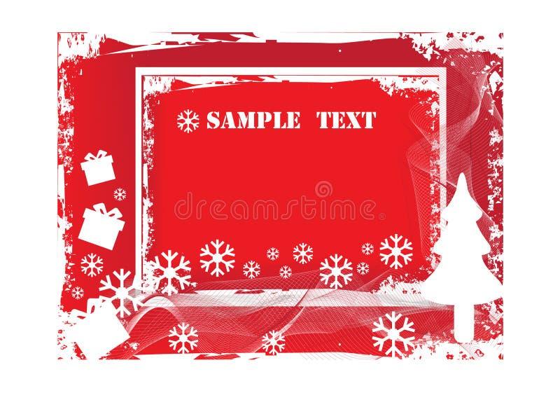 Christmas grunge background royalty free illustration