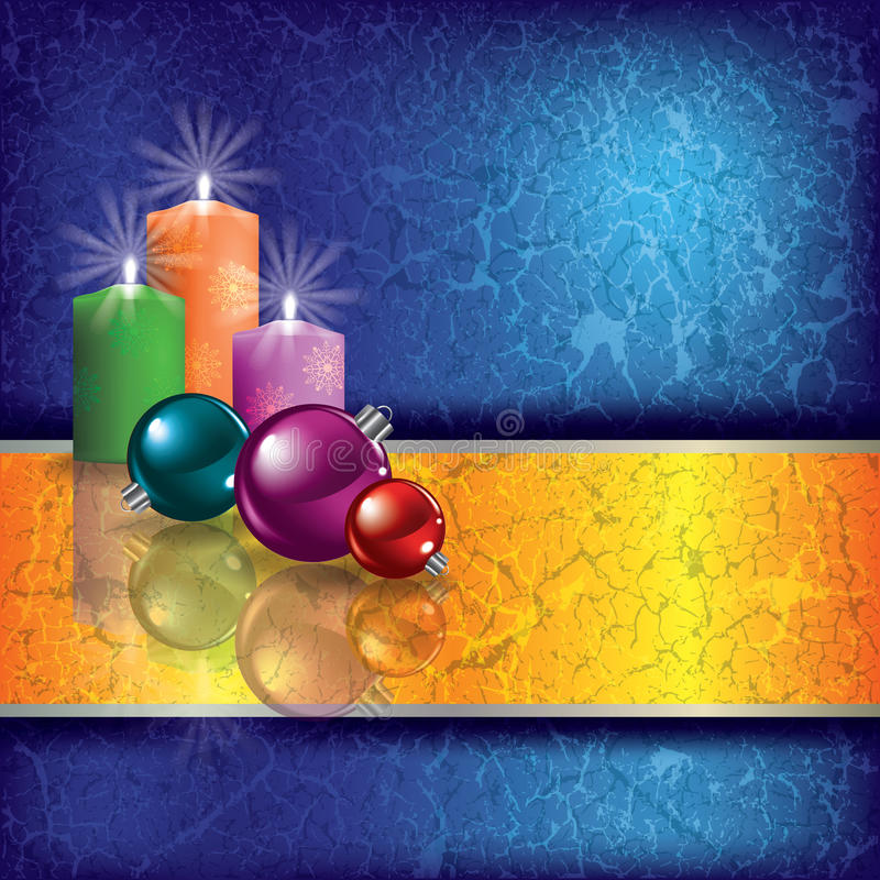 Download Christmas Grunge Background With Candles Stock Vector - Image: 21996420