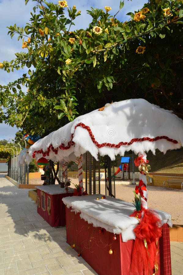 Christmas, Guardamar, Spain stock images