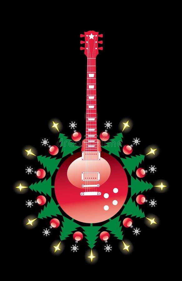 Christmas guitar stock photography