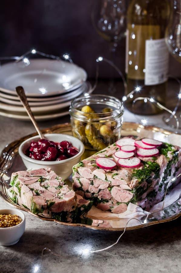 Christmas Ham Hock Terrine royalty free stock image