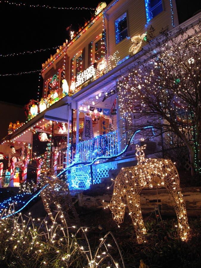 Christmas in Hampden-Baltimore royalty free stock photography