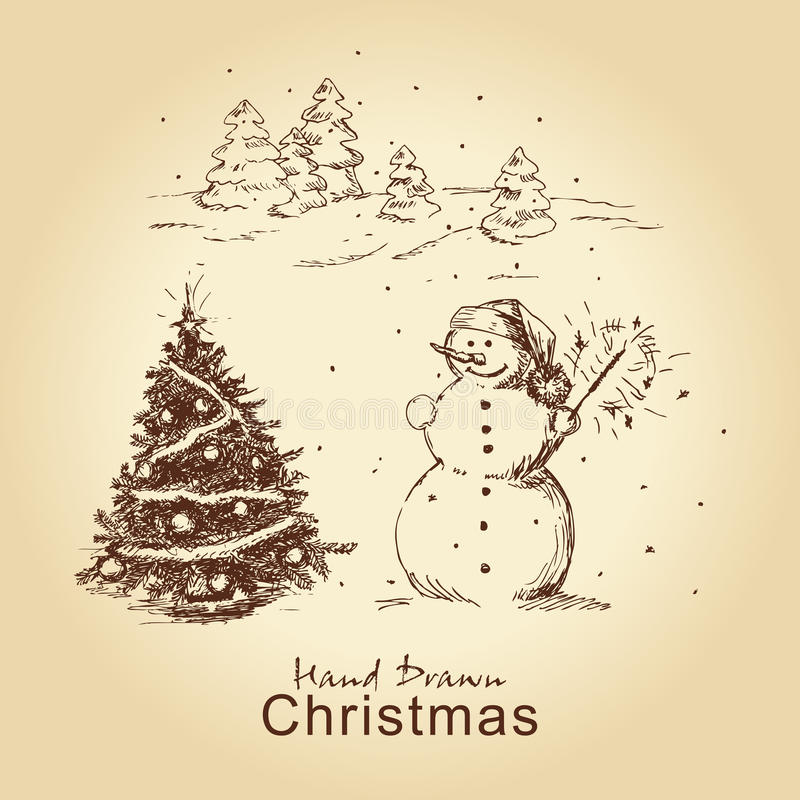Download Christmas Hand Drawn Card Royalty Free Stock Photos - Image: 22049798