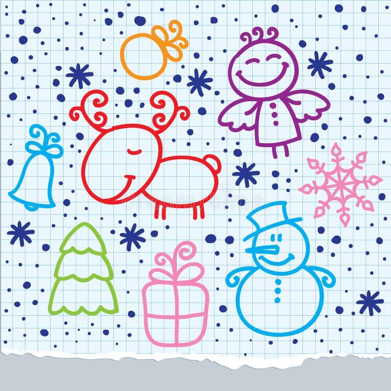 Christmas hand drawn design vector illustration