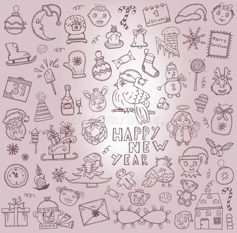Christmas. Hand-drawn icons vector illustration