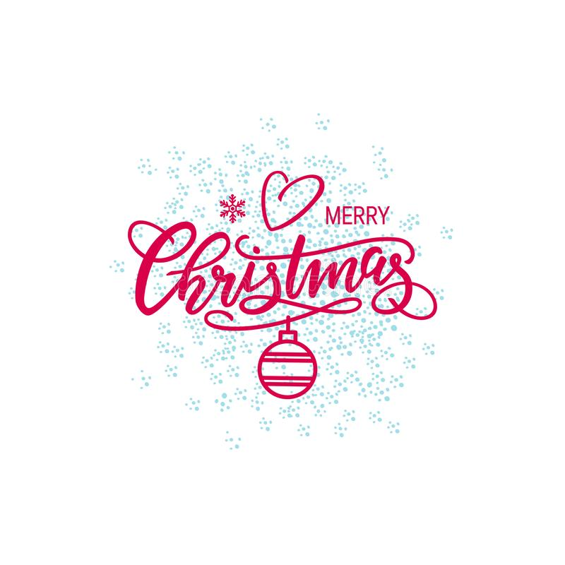 Christmas lettering vector royalty free illustration