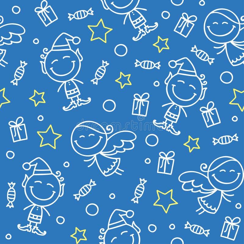 Christmas hand drawn pattern vector illustration