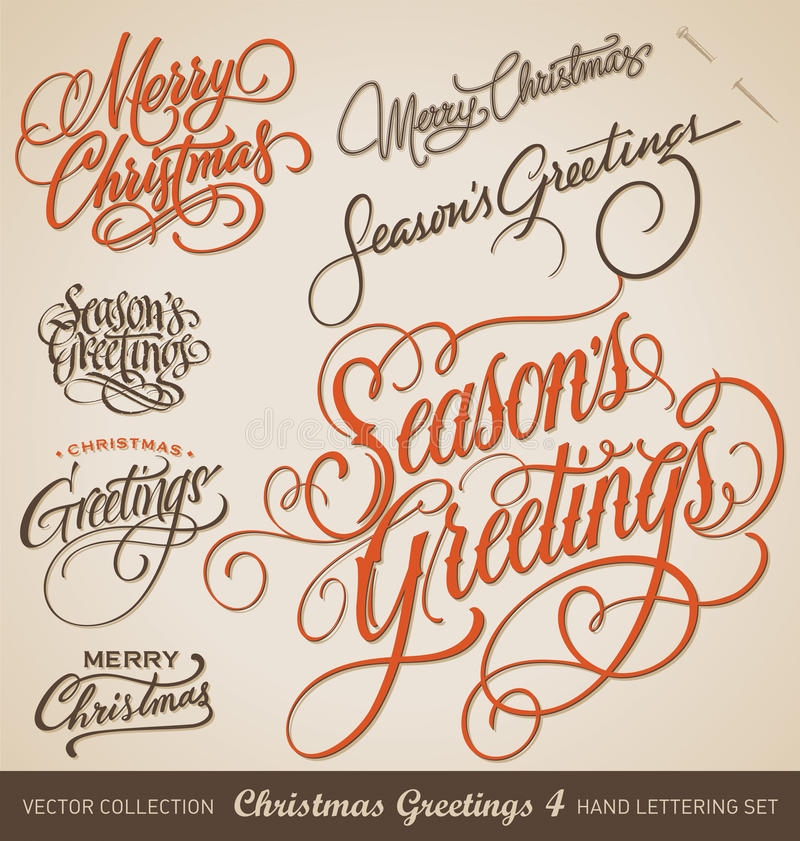 Free CHRISTMAS Hand Lettering Set (vector) Royalty Free Stock Photography - 40321277
