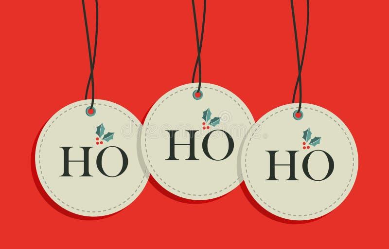 Christmas Hang Tags Sale Set Royalty Free Stock Photography