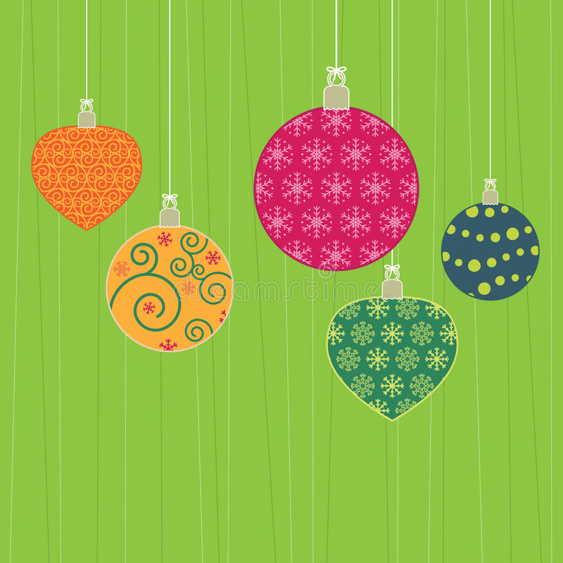 Christmas Hanging Decorations Royalty Free Stock Photo