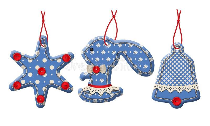 Christmas Textile Decorations vector illustration