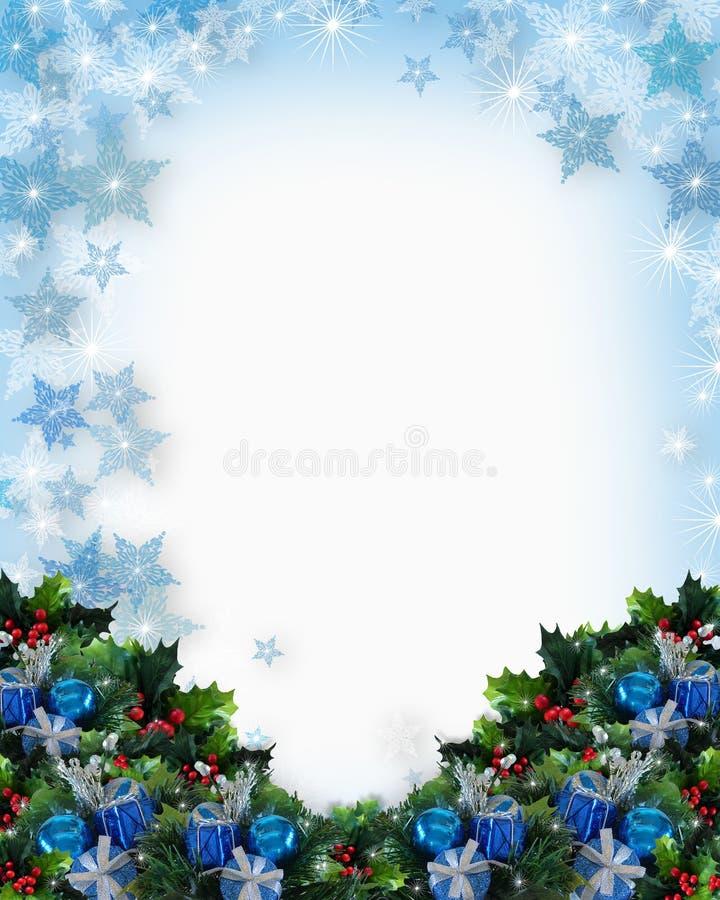 Download Christmas Or Hanukkah Background Stock Illustration - Illustration  of holly, edge: 6515280