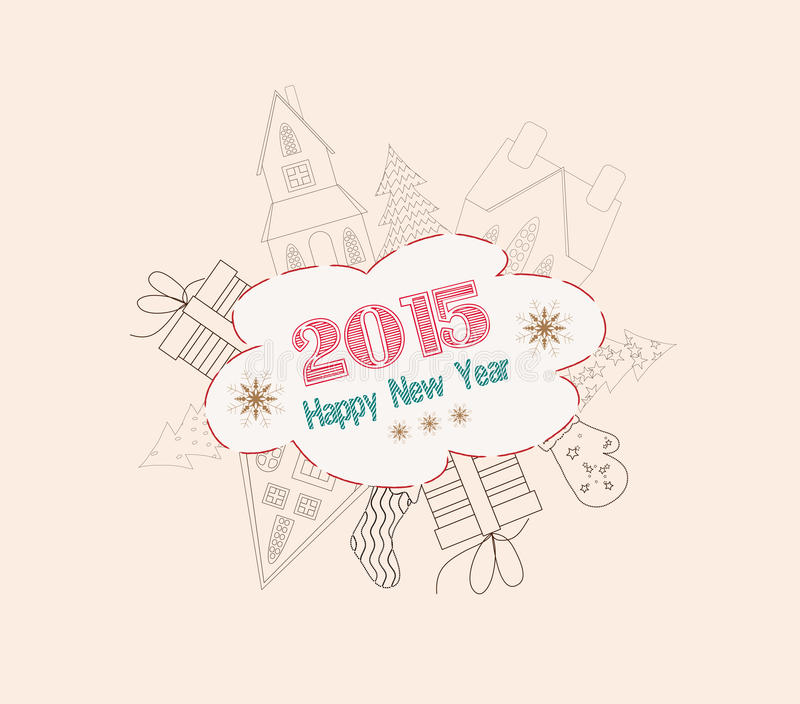 Download Christmas And Happy New Year  Frame Stock Illustration - Image: 43956748