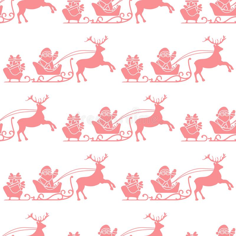 Christmas and Happy New Year 2019 seamless pattern vector illustration