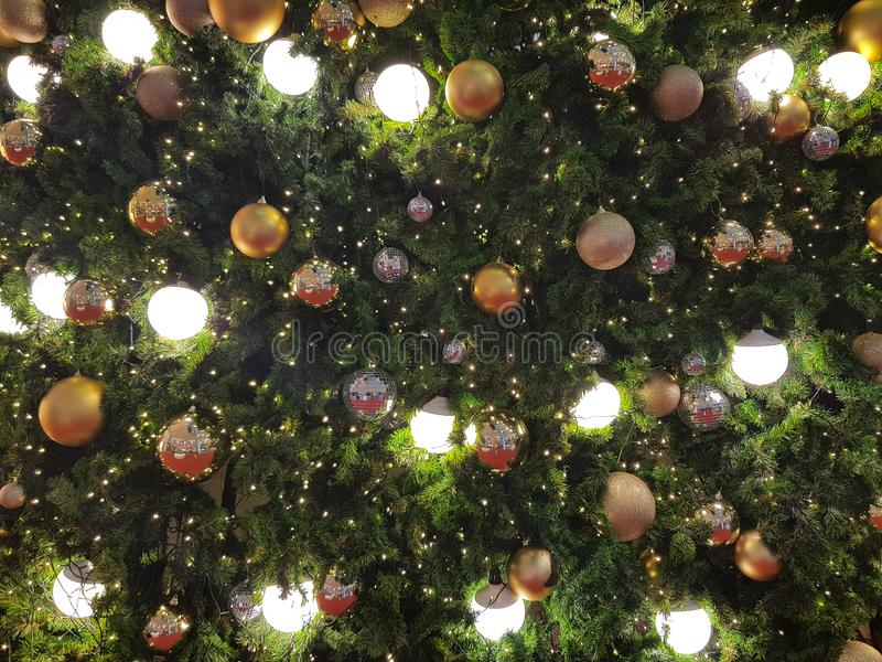 Christmas and Happy new years light bulb decorate. For backgrounds royalty free stock images