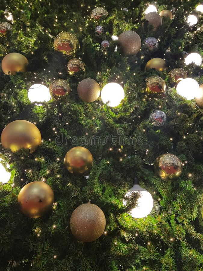 Christmas and Happy new years light bulb decorate. For backgrounds royalty free stock photo