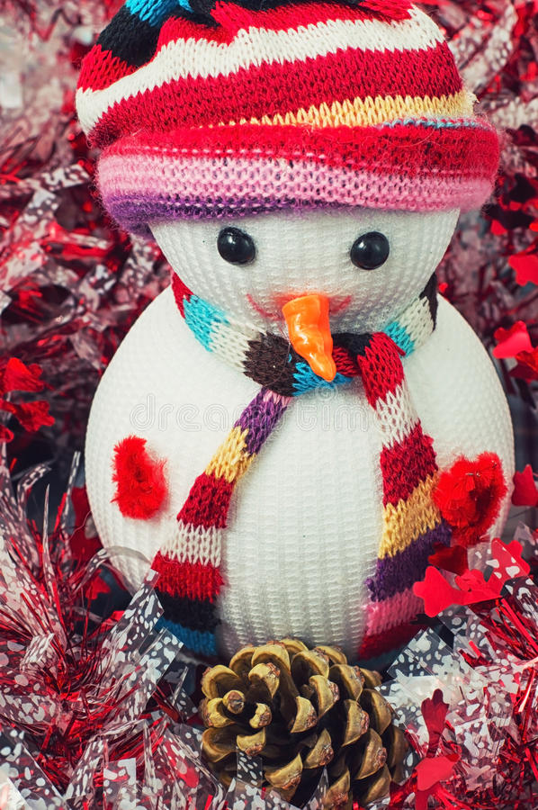 Christmas happy snowmans. Christmas toys and trinkets for the holiday royalty free stock image