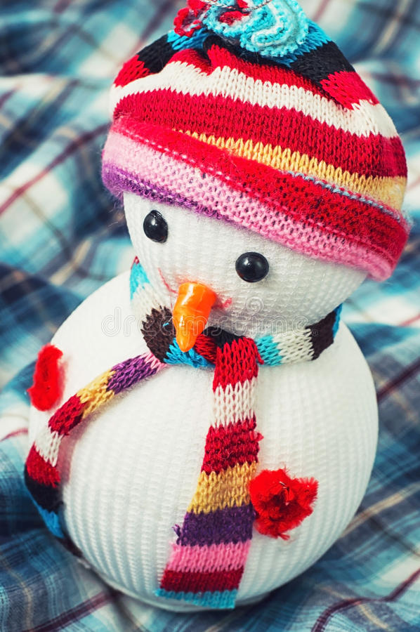 Christmas happy snowmans. Christmas toys and trinkets for the holiday royalty free stock photos