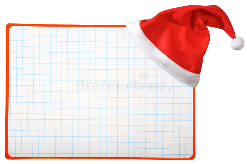 Download Christmas Hat And Blank Horizontal Stock Image - Image: 7140835
