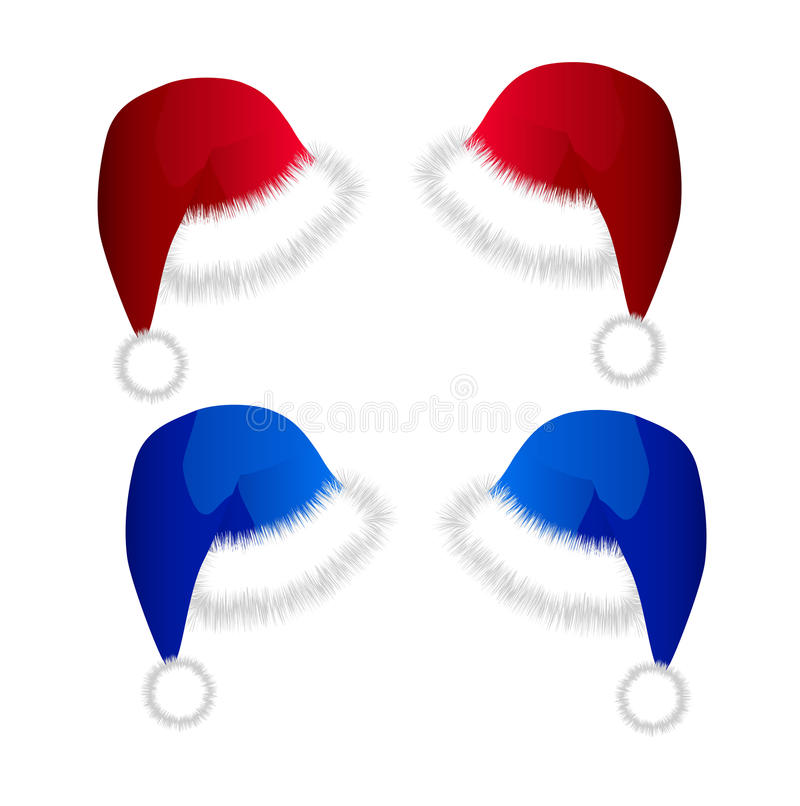 Christmas hats royalty free stock photo