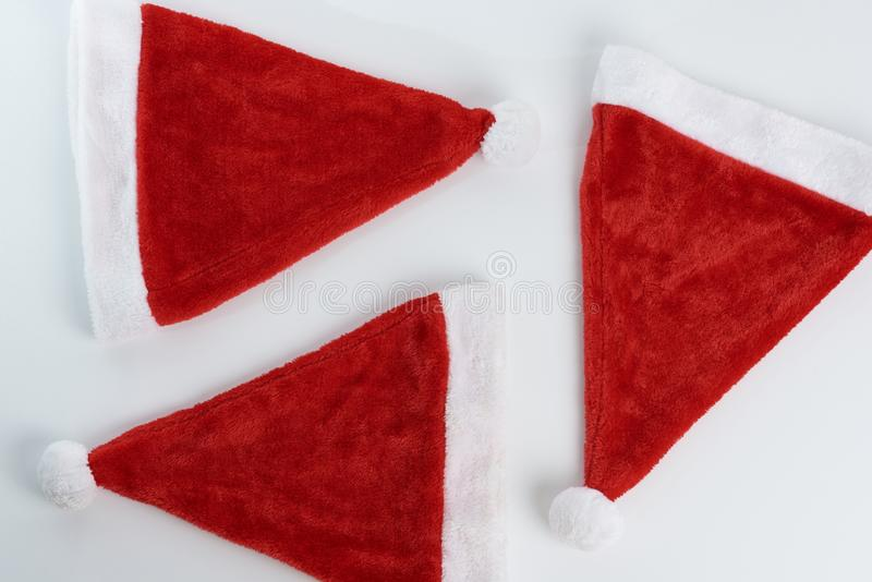 Christmas hats background royalty free stock photos