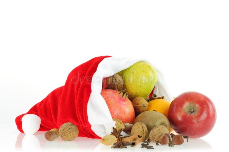Christmas healthy food stock image