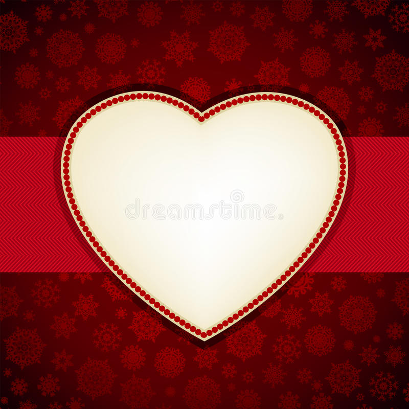 Christmas heart frame card template. EPS 8 royalty free stock image